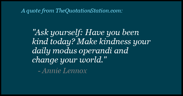 Click to Share this Quote by Annie Lennox on Facebook