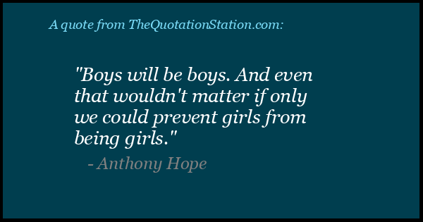 Click to Share this Quote by Anthony Hope on Facebook
