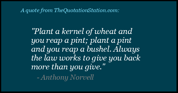 Click to Share this Quote by Anthony Norvell on Facebook