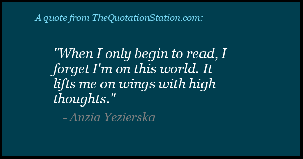 Click to Share this Quote by Anzia Yezierska on Facebook