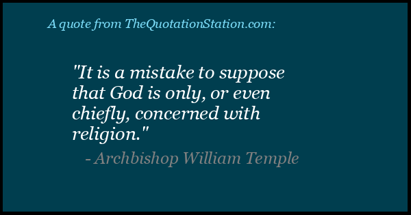 Click to Share this Quote by Archbishop William Temple on Facebook