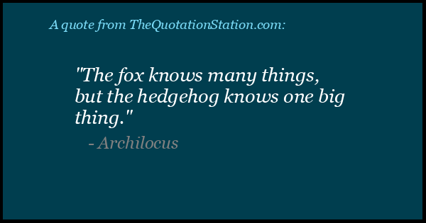 Click to Share this Quote by Archilocus on Facebook