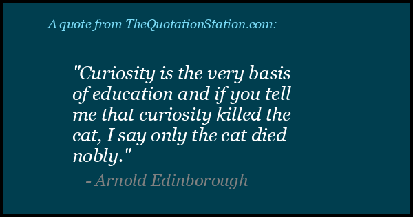 Click to Share this Quote by Arnold Edinborough on Facebook