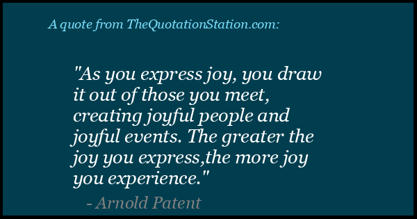 Click to Share this Quote by Arnold Patent on Facebook