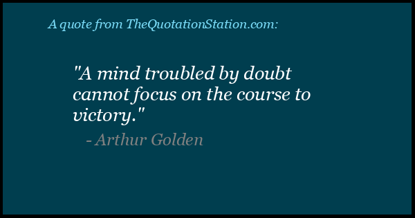 Click to Share this Quote by Arthur S Golden on Facebook