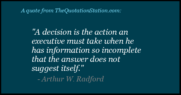 Click to Share this Quote by Arthur W Radford on Facebook