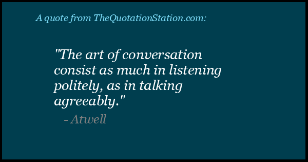 Click to Share this Quote by Atwell on Facebook