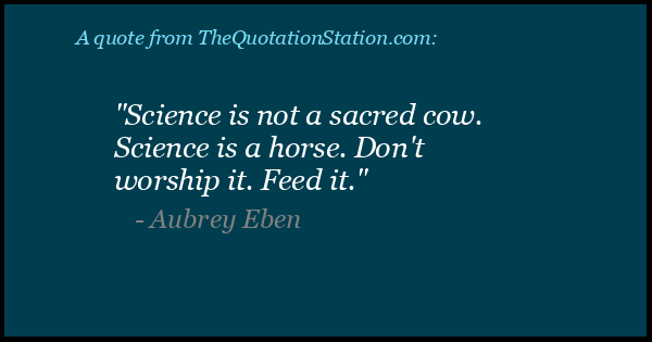Click to Share this Quote by Aubrey Eben on Facebook