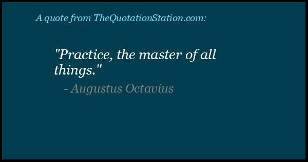 Click to Share this Quote by Augustus Octavius on Facebook