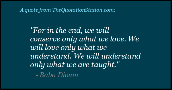 Click to Share this Quote by Baba Dioum on Facebook