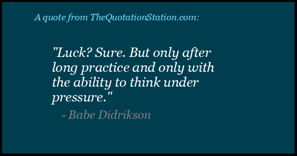 Click to Share this Quote by Babe Didrikson on Facebook