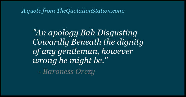 Click to Share this Quote by Baroness Orczy on Facebook