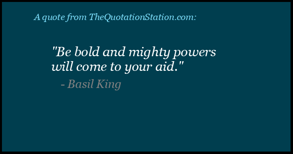 Click to Share this Quote by Basil King on Facebook