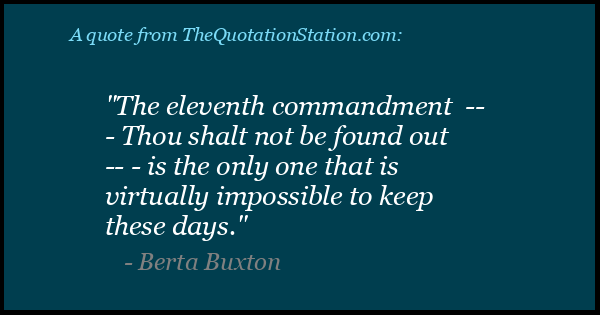 Click to Share this Quote by Berta Buxton on Facebook