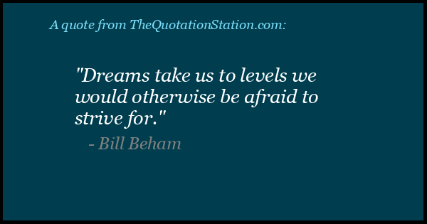 Click to Share this Quote by Bill Beham on Facebook