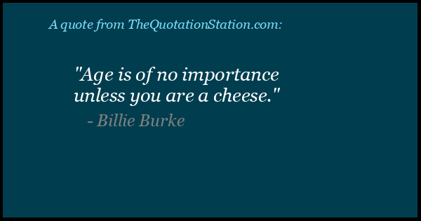 Click to Share this Quote by Billie Burke on Facebook