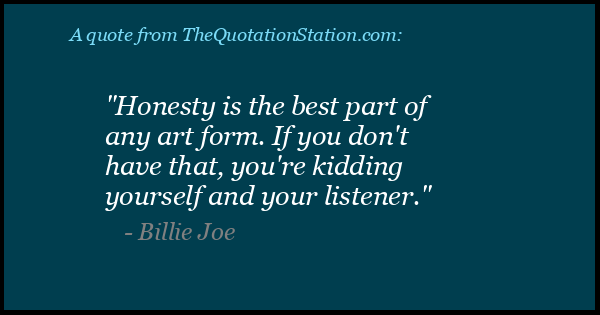 Click to Share this Quote by Billie Joe on Facebook