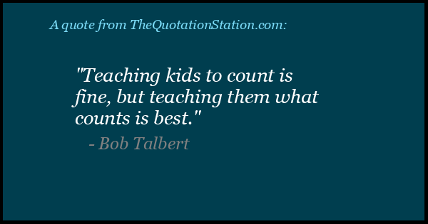 Click to Share this Quote by Bob Talbert on Facebook