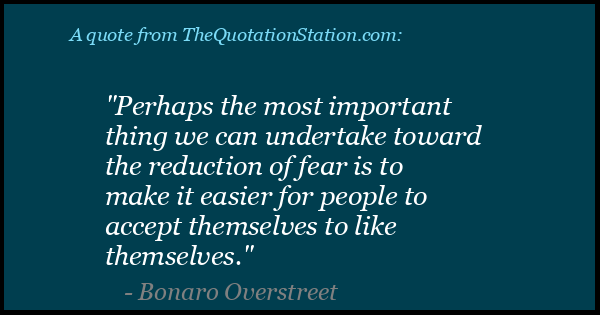 Click to Share this Quote by Bonaro Overstreet on Facebook