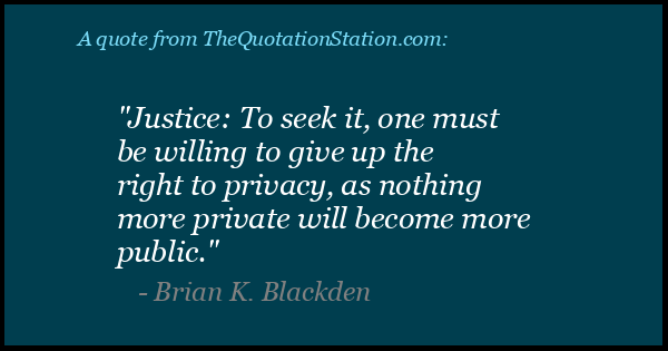 Click to Share this Quote by Brian K Blackden on Facebook