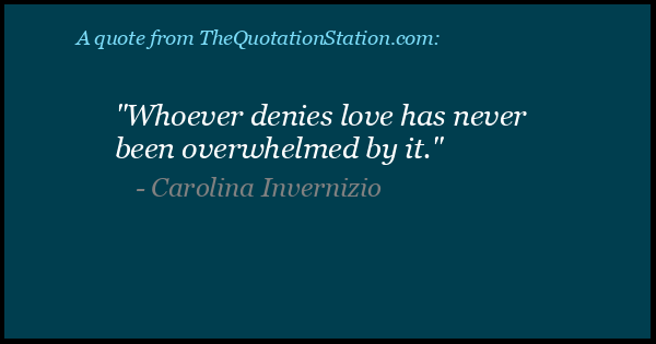 Click to Share this Quote by Carolina Invernizio on Facebook