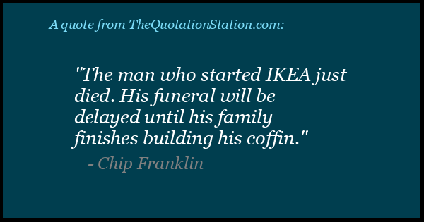 Click to Share this Quote by Chip Franklin on Facebook