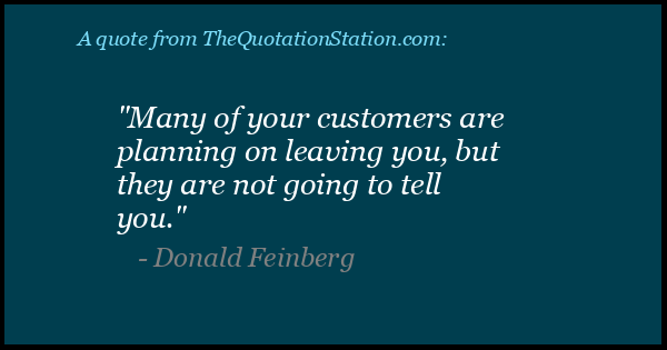 Click to Share this Quote by Donald Feinberg on Facebook