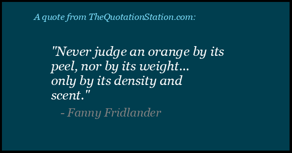 Click to Share this Quote by Fanny Fridlander on Facebook