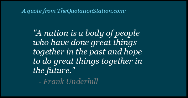 Click to Share this Quote by Frank Underhill on Facebook