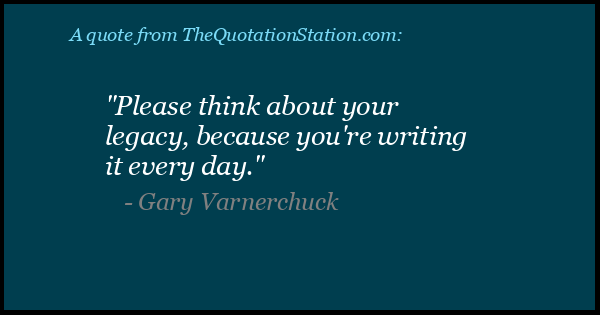 Click to Share this Quote by Gary Varnerchuck on Facebook