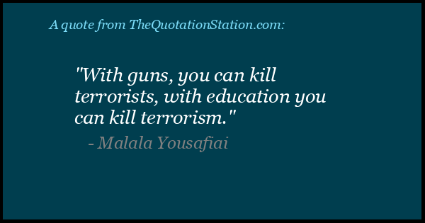 Click to Share this Quote by Malala Yousafiai on Facebook