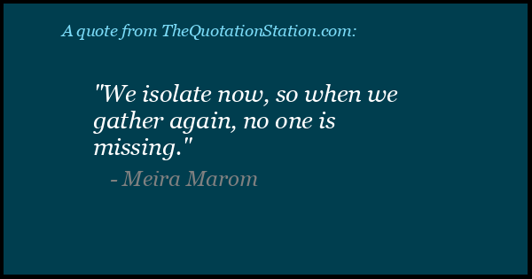 Click to Share this Quote by Meira Marom on Facebook