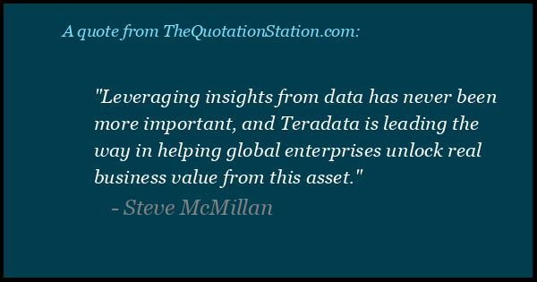 Click to Share this Quote by Steve McMillan on Facebook