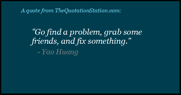 Click to Share this Quote by Yao Huang on Facebook