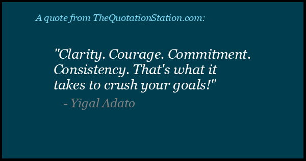 Click to Share this Quote by Yigal Adato on Facebook