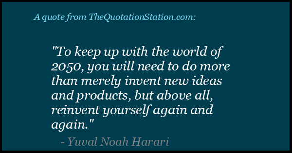 Click to Share this Quote by Yuval Noah Harari on Facebook